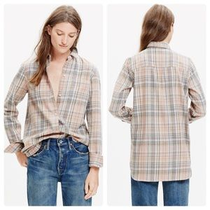 Madewell Ex-Boyfriend Flannel Shirt Camden Plaid